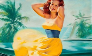 Pin-up-girl-Wallpaper-Art-Painting
